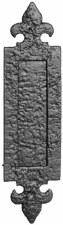 Kirkpatrick 1073 Vertical Fleur De Lys Letterplate 305mm Black Ironwork