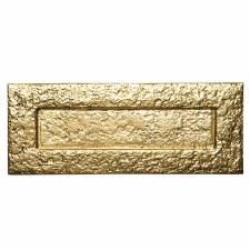 Kirkpatrick B1083 Plain Large Letterplate 352mm  Polished Brass