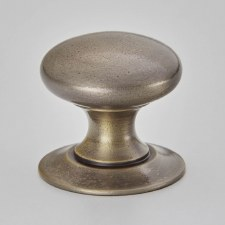 Croft 1100 Victorian Cushion Cabinet Knob Distressed Antique Nickel 25mm