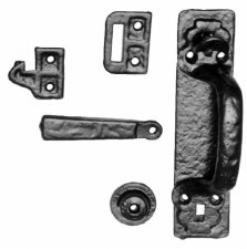 Kirkpatrick 1124 Canadian Thumb Latch Antique Black