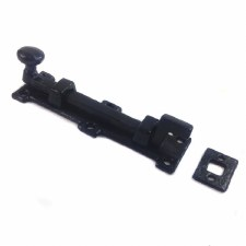 "Kirkpatrick 1155C Necked Door Bolt 6"" Antique Black"