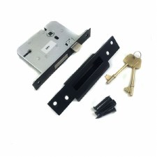 Kirkpatrick 1215 Mortice Door Lock 5 Lever Antique Black