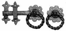 "Kirkpatrick 1249 Gate Latch 10"" Antique Black"