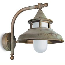 Modena Wall Bracket Projection Arm Light Aged Copper Opal Glass