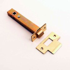 Tubular Mortice Door Latch 127mm Polished Brass Unlacquered