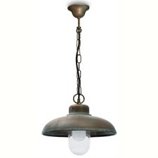 Pisa Single Hanging Ceiling Light Aged Copper