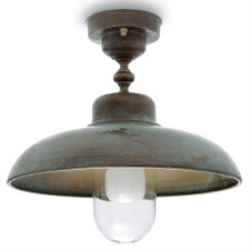Pisa Single Ceiling Light Aged Copper