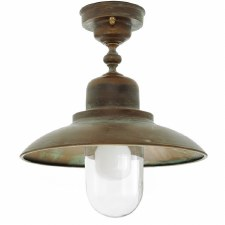 Bianco Ceiling Light Aged Copper & Oval Glass
