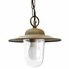 Marina Chain Ceiling Light Aged Copper