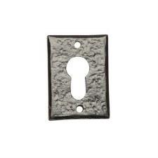 Kirkpatrick 1400 Rectangular Euro Profile Escutcheon Antique Black