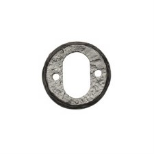 Kirkpatrick 1402 Round Oval Profile Escutcheon Antique Black
