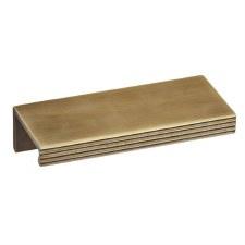 Croft 1402 Pleated Cabinet Edge Pull Light Antique Brass 100mm