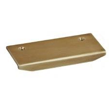 Croft 1408 Moderne Top Fix Cabinet Edge Pull Light Antique Brass 100mm