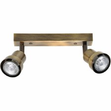 Pavia Twin Spot Light Antique Brass
