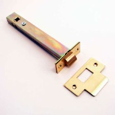 Tubular Mortice Door Latch 151mm Polished Brass Unlacquered