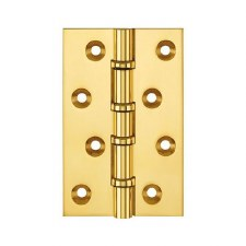 """Ball Race Hinges 1540 4"""" x 2.5/8"""" Polished Brass Lacquered"""
