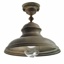 Como Fixed Ceiling Light Aged Copper