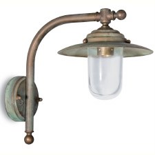 Palermo Nautical Outdoor Wall Light Aged Copper Clear Glass