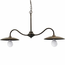Biella Double Pendant Light Aged Copper