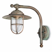 Messina Nautical Outdoor Wall Lantern Aged Copper