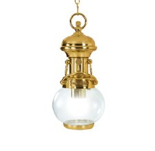 Potenza Chain Ceiling Light Polished Brass