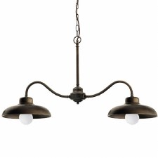 Cuneo Twin Ceiling Light Bronzed