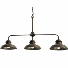 Enna Triple Arm Pendant Ceiling Light Bronzed