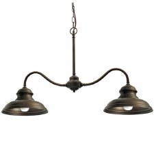Enna Twin Arm Ceiling Light Bronzed