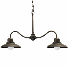 Lucca Double Ceiling Pendant Light Bronzed