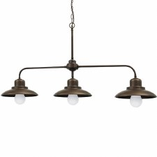 Lucca Triple Ceiling Light Bronzed