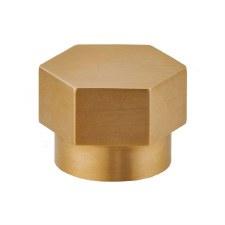 Croft 173 Hex Cabinet Knob Smoked Brass