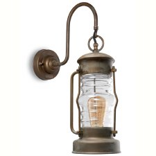 Atrani Outdoor Wall Lantern Aged Copper