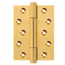 "Samson TriTech Hinge 4"" x 3"" Polished Brass Unlacquered"