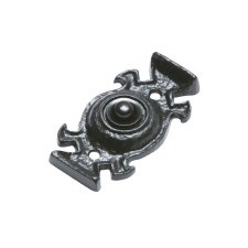 Kirkpatrick 1753 Door Bell Push Antique Black
