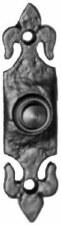 Kirkpatrick 1761 Fleur De Lys Door Bell Push Black