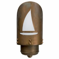 Sorrento Yacht Outdoor Wall Light Lantern Aged Copper