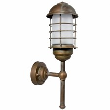 Andria Outdoor Wall Light Lantern Aged Copper