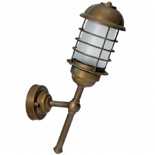 Andria Angled Outdoor Wall Light Aged Copper