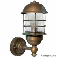 Andria Small Outdoor Wall Light Lantern Aged Copper