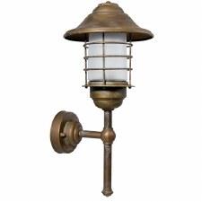 Eboli Outdoor Wall Light Lantern Aged Copper