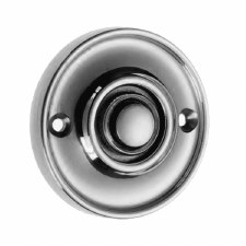Croft Circular Door Bell Push 1913 Polished Chrome