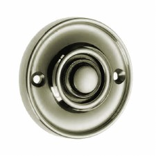 Croft Circular Door Bell Push 1913 Polished Nickel