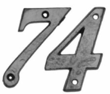 Kirkpatrick 1979 101mm House Number 0 Antique Black