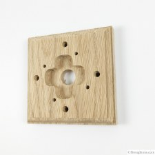 Wooden Mounting Pattress to suit Single Dome Switch