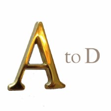 Letter A 45mm Polished Brass Lacquered