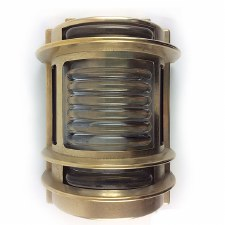 Naval Outdoor Wall Light Polished Brass