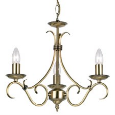 Bernice 3 Light Chandelier Antique Brass