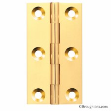 38mm x 23mm Butt Hinge Polished Brass Unlacquered