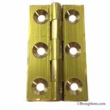 Butt Hinge 0940 51x 28.5mm Self Colour Brass