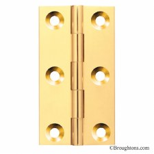 51mm x 38mm Butt Hinge Polished Brass Unlacquered